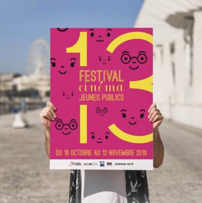 Création d'un visuel culturel pour CINA : Cinémas Indépendants de Nouvelle-Aquitaine